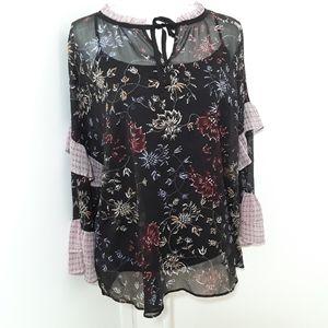a.n.a Womens Sheer Blouse XL